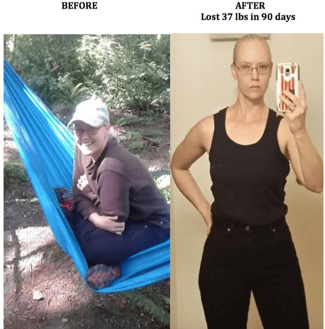 Cheyenne (40) lost 37 lbs in 90 days!